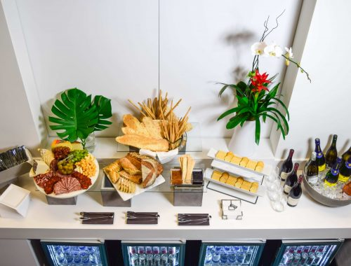 Brightline's PM Select Service includes charcuterie, wine and champagne