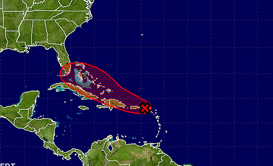 A weather wave with plenty of rain was closing in on Puerto Rico Wednesday and could hit South Florida this weekend.