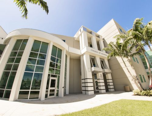 FAU College of Business tower