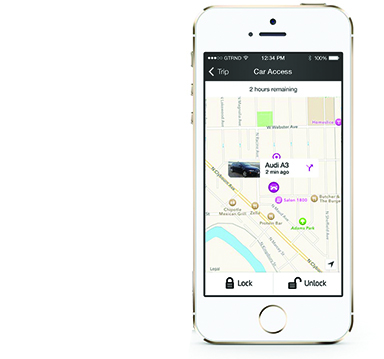 ►Peer-to-peer carsharing service Getaround introduced its platform, which enables users to rent and drive keyless cars hourly, shared by locals when available.