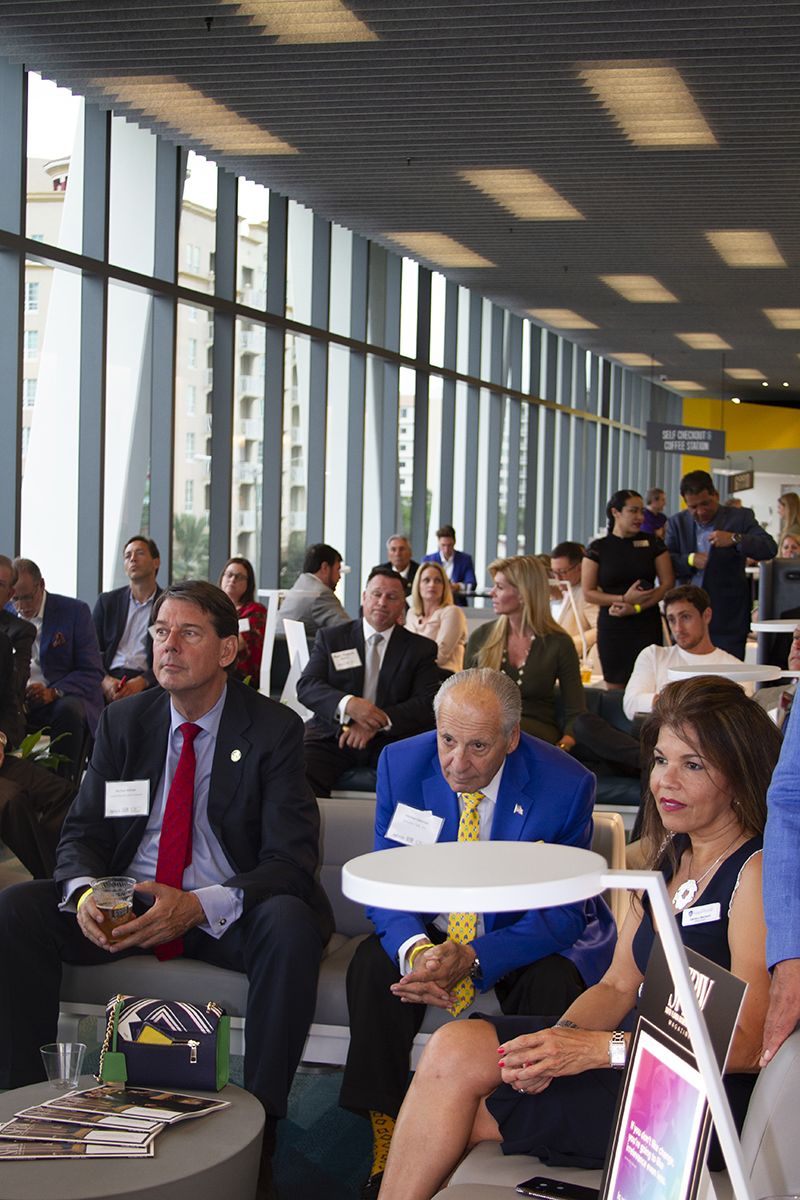 This edition of CEO Connect was held at Brightline's station in West Palm Beach