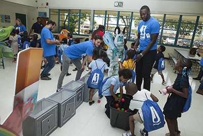 ► Jazwares, a global toy manufacturer based in Sunrise, selected Mary M. Bethune Elementary School in Hollywood for the launch of its Adopt-A-School initiative, donating bags with school supplies and toys for every student.