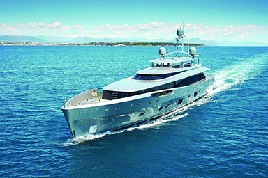 Love the Lady Lady May, listed at $33.18 million by Burgess Yachts, is billed as one of the world's most innovative superyachts, with a rotating floor in the main lounge and a perimeter of glass panels. The 151.6-foot yacht was built in 2014 by Dutch shipyard Feadship with an aluminum exterior painted silver to reflect light off the sea. On the main deck, a glass weather enclosure can be removed at the touch of a button, providing an open-air environment for up to 50 people, and heated- or cooled-air options throughout the decks allow all-season outdoor living in all climates. burgessyachts.com
