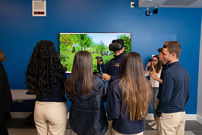 ► Teachers in the science, technology, engineering and math programs at St. Thomas Aquinas High School worked with Miami-based digital agency Xennial Digital to launch a virtual reality lab.