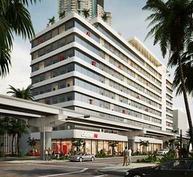 ►Netherlands-based CitizenM will open a 348-room, 12-story hotel at Miami Worldcenter, which will include nearly 2,000 square feet of coworking meeting space.