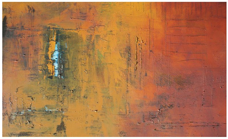 An abstract painting by Peter Stromberg