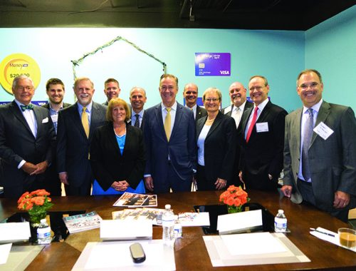 Community bankers gathered at The SilverLogic for the roundtable discussion
