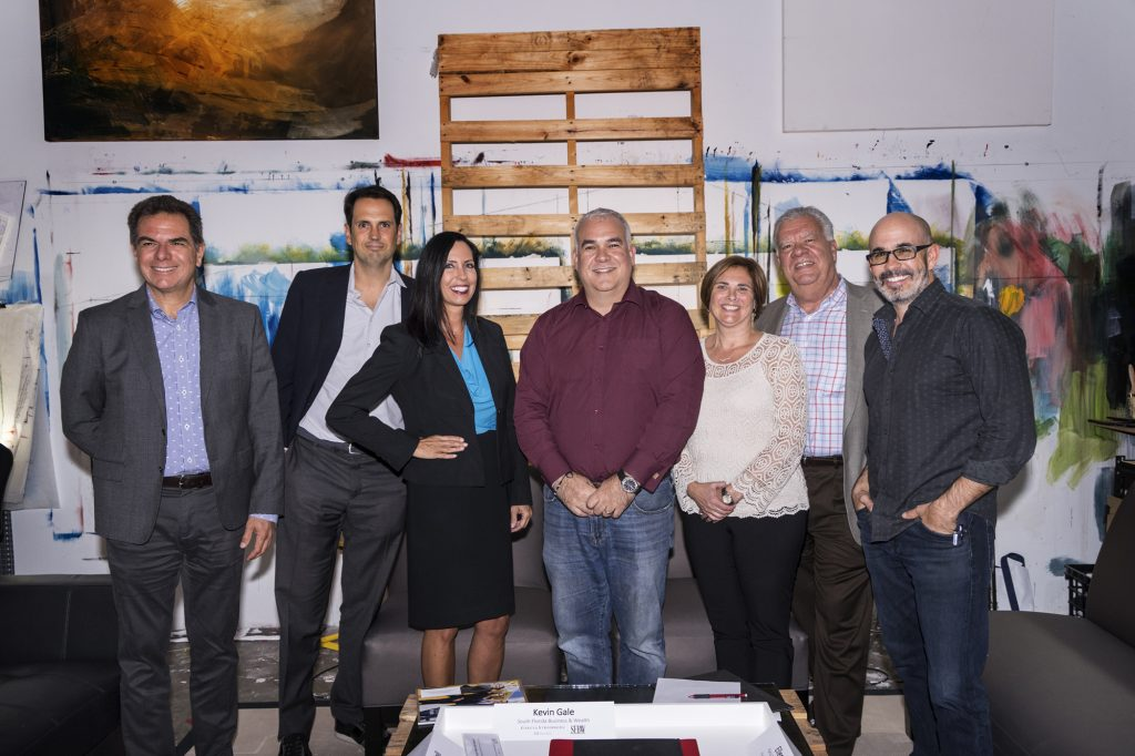 The panelists and sponsors, from left to right: Leonardo Coll, Inigo Ardid, Robin Galanti, Juan Pedro San Martin, Ellen Parisi, Jorge Garcia and Peter Stromberg