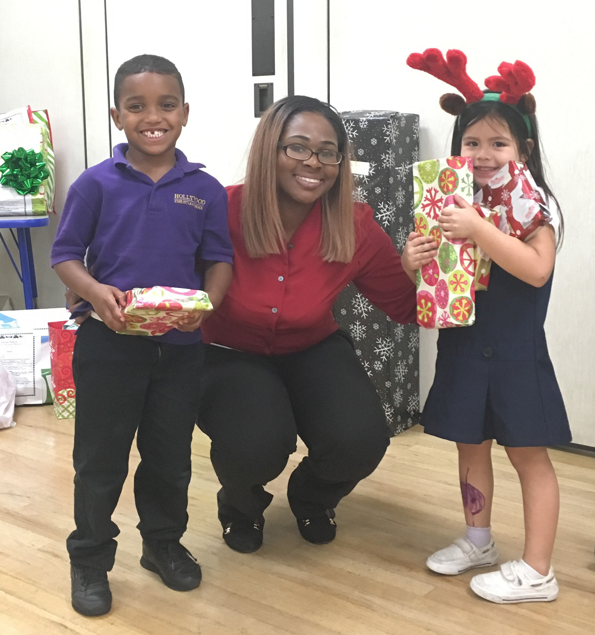 Smiling faces, thanks to the Empty Stocking Program