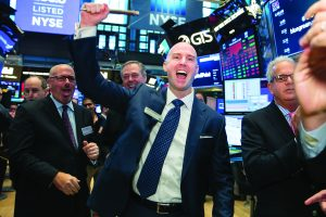 CEO Shawn Pearson celebrates Bluegreen's IPO at the New York Stock Exchange
