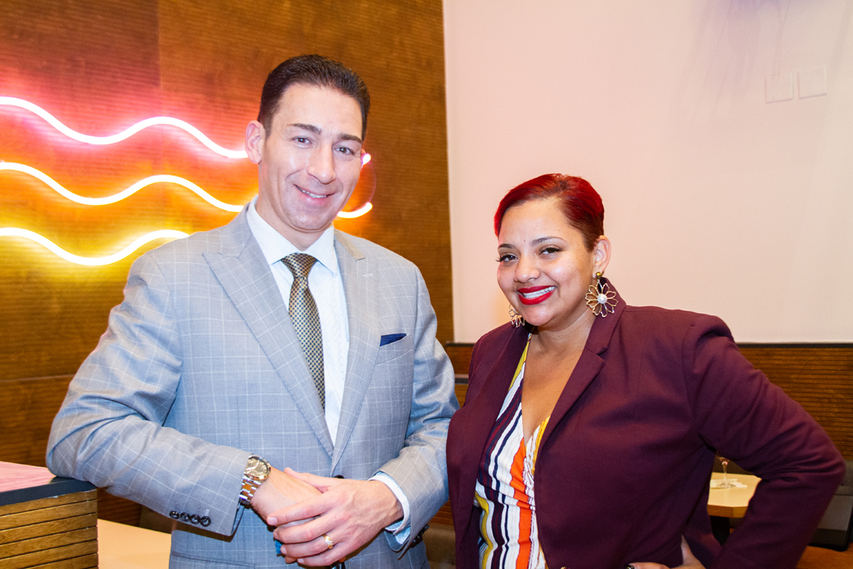 CEO Connect sponsors: CDW's Mike Bock and Celebrity Cruises' Joyce Lopez