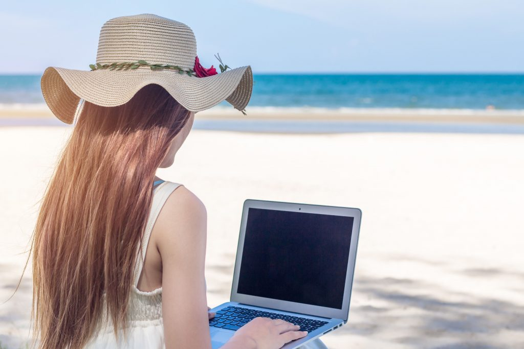 Remote work may not always be a day at the beach, but it's growing in popularity