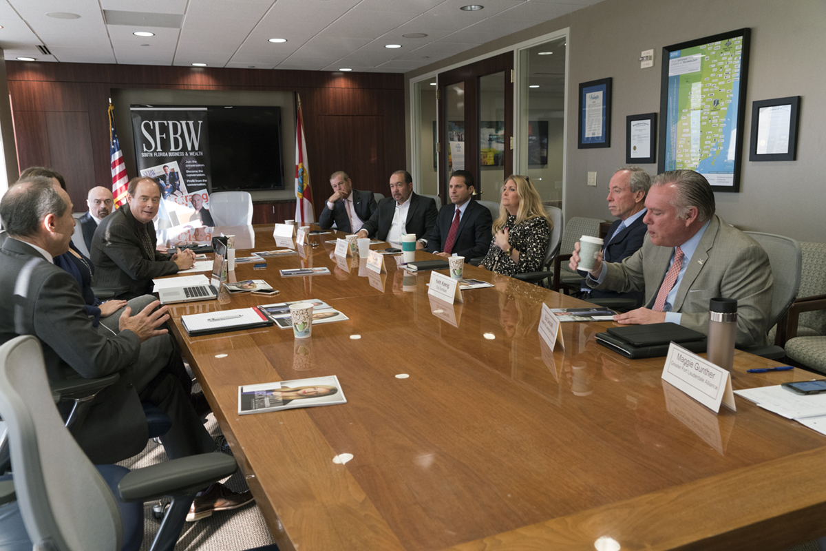 The Corporate Headquarters roundtable was held at the Greater Fort Lauderdale Alliance