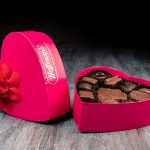 A heart shaped box of chocolates from Hoffman's Chocolates
