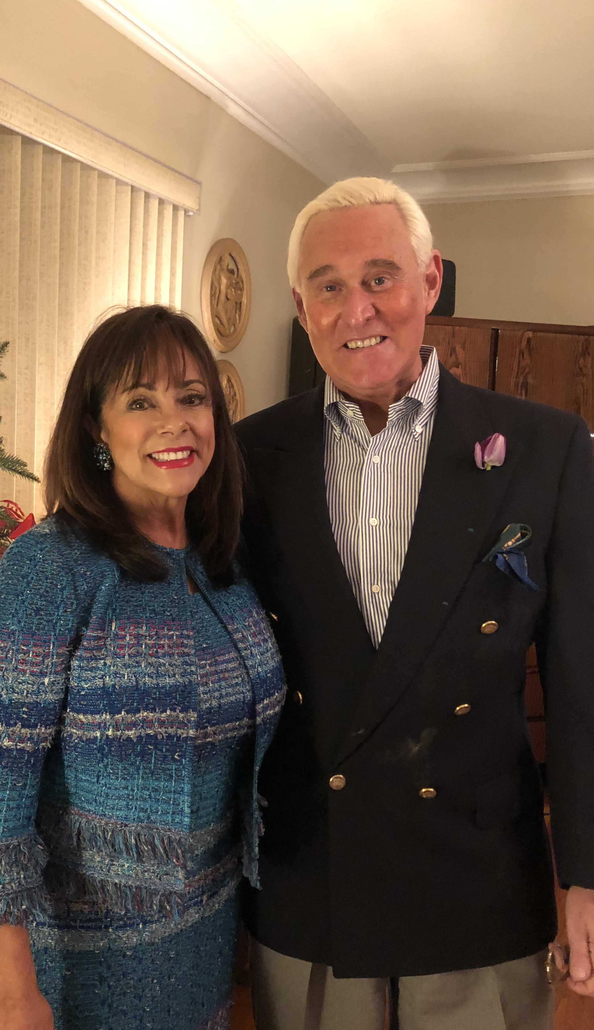 Nydia and Roger Stone