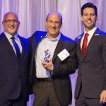 Alan Berger; banking and financial services honoree David Davidoff of Professional Bank; and Clayton Idle