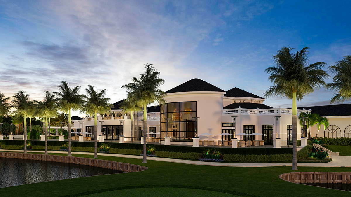 A rendering shows the $29 million clubhouse renovation