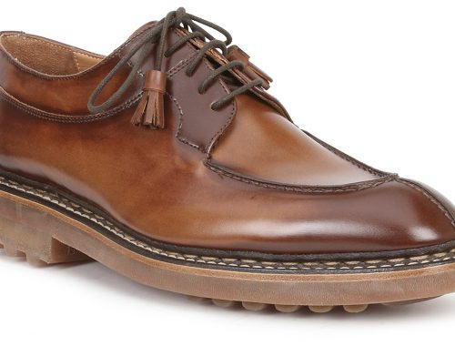 Bruno is back If you have been wondering where the Bruno Magli shoes are at Neiman Marcus, they're back. SFBW has a liking for the Camino Cognac shoes with a decorative tassel on the end of the laces. They retail for $625.