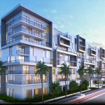 Milestones at Dania Pointe Phase 1 of Kimco Realty's 102-acre Dania Pointe development along Interstate 95 in Dania Beach is open and 94 percent leased. Tenants are starting to open and will continue to do so into 2020. Notable leases include Lucky's Market, Regal Cinema, Tommy Bahama, Forever 21, Cooper's Hawk Winery and Restaurant, Rodizio Grill and Bowlero, a 30,000-square-foot bowling and entertainment center. Meyers Group has topped off Avery Dania Pointe, above, a 264-unit luxury apartment project at Dania Pointe designed by architect Kobi Karp.
