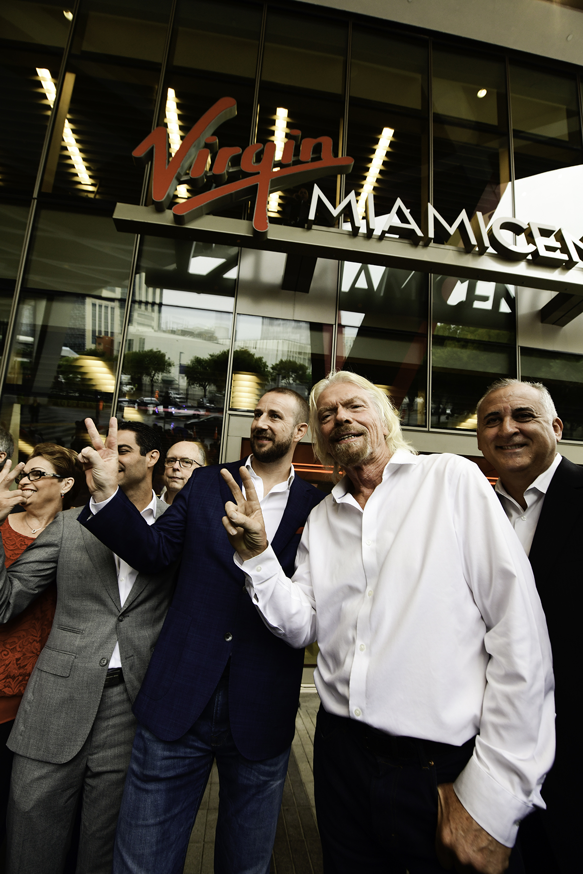 "Virgin Trains Virgin Group founder Sir Richard Branson and Virgin Trains USA President Patrick Goddard heralded the transition of Brightline to Virgin Trains USA at MiamiCentral. ""Virgin has a long history of changing industries for the better and inspiring enduring loyalty through outstanding customer experience,"" Branson said. ""Today marks the first step in that journey with Virgin Trains USA as we unveiled the beautiful Virgin MiamiCentral station."""