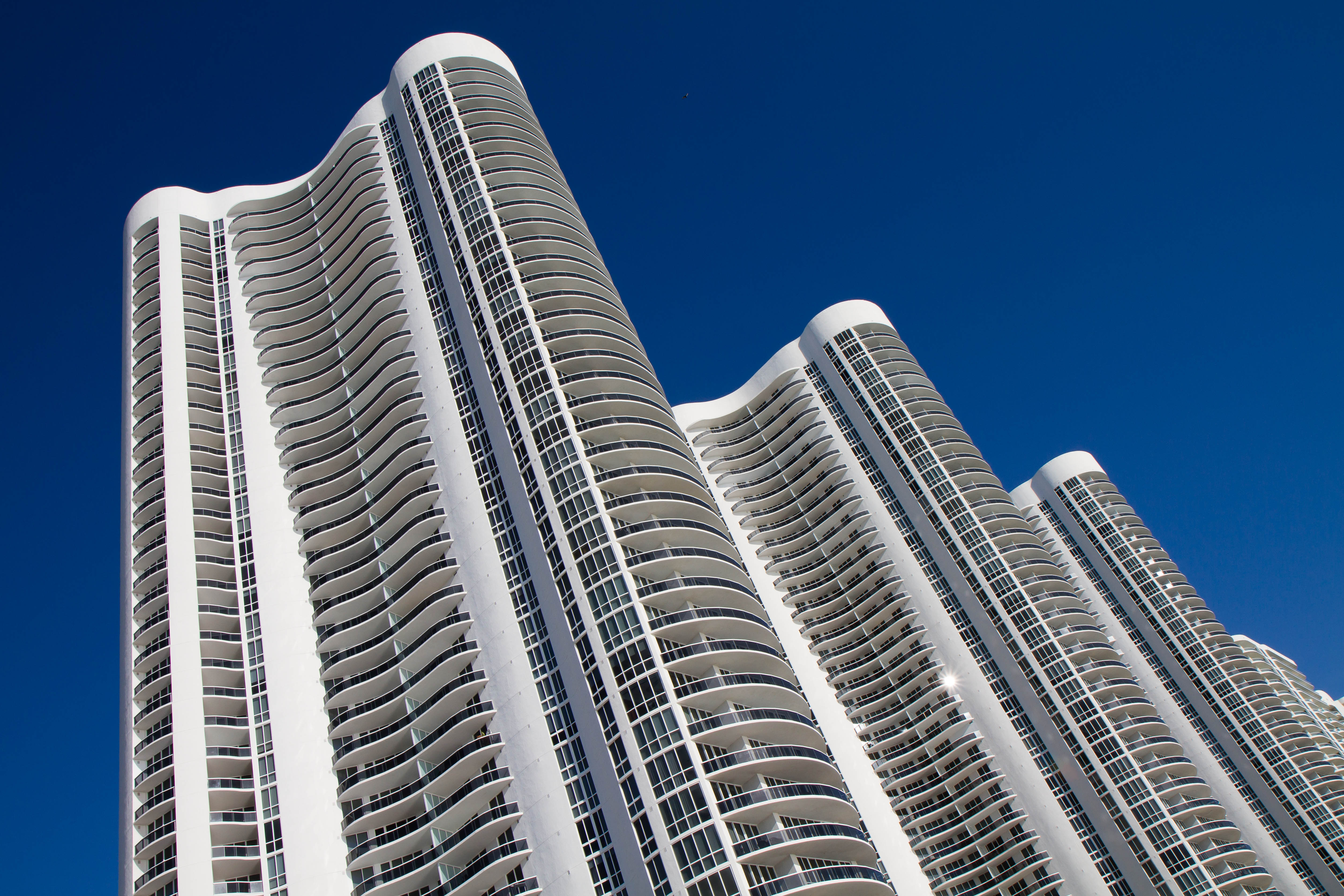 Trump branded towers on Sunny Isles Beach