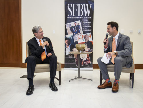 UM President Dr. Julio Frenk is interviewed by SFBW Associate Publisher Clayton Idle