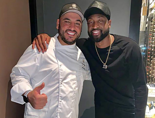 Dwyane Wade with executive chef Angelo Massanova at Casa D'Angelo