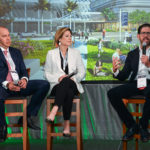 Jose Antonio Perez Helguera, managing director of Agave Holdings, developer of The Plaza in Coral Gables; Tere Blanca, founder, chairman and CEO of Blanca Commercial Real Estate; and David Martin, president and CEO Terra Group, talked about creating projects that enhance neighborhoods