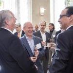 Attendees enjoy networking at UM's Newman Alumni Center