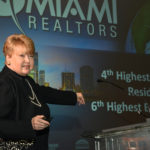 Teresa King Kinney, CEO of the Miami Association of Realtors, provided statistics that show the residential market remains strong