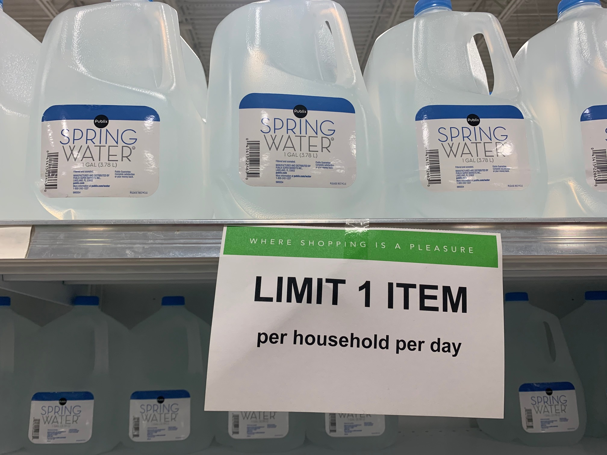 water at Publix